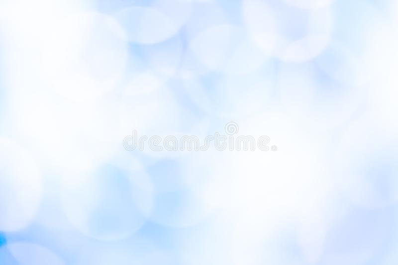Abstract blue bokeh background. Abstract blue color bokeh background royalty free stock photography