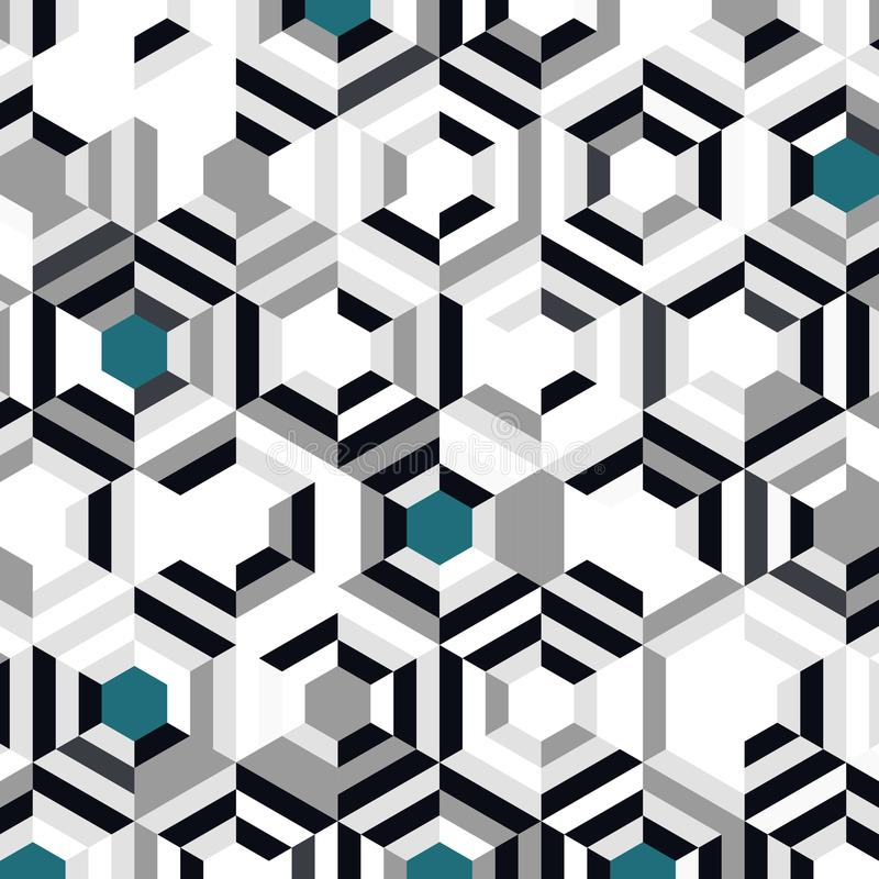 Abstract blue color hexagon pattern design of minimal decoration background. illustration vector eps10 stock illustration