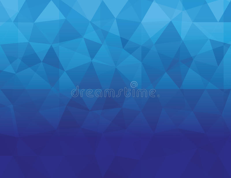 Abstract blue color Polygonal geometric background royalty free illustration