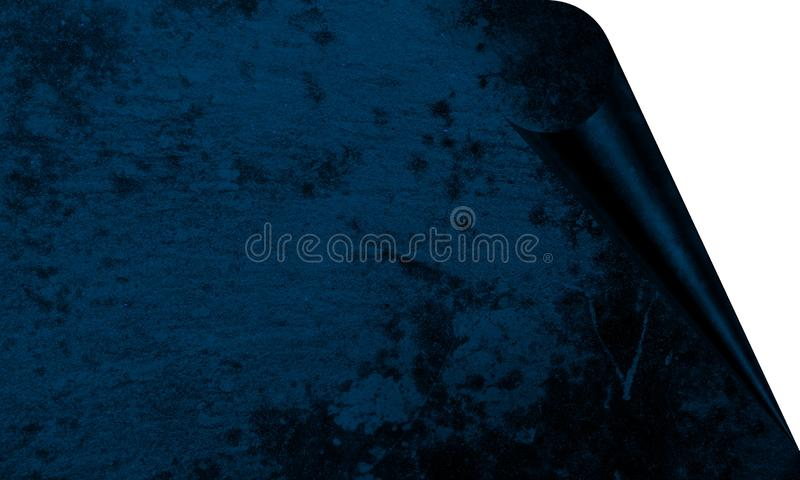 Abstract Blue Color With Wall Texture Background Page Curl Effects Background Wallpaper. royalty free illustration