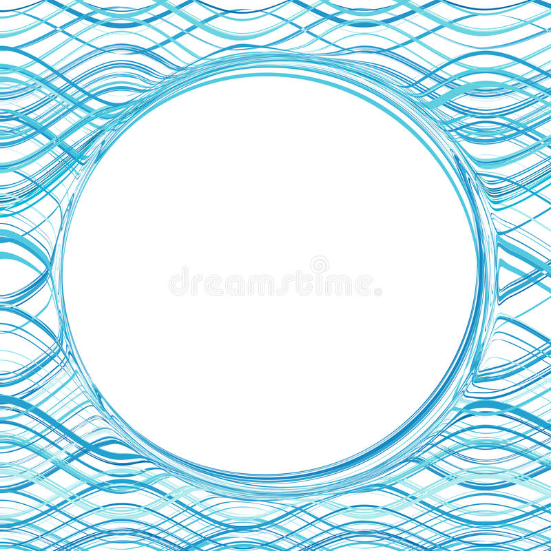 Abstract blue color water wave frame background royalty free illustration