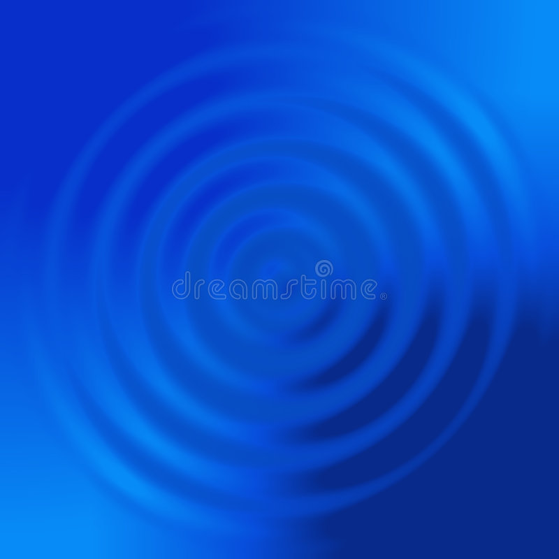 Abstract Blue Concentric Circles Royalty Free Stock Images