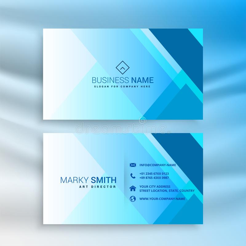 Abstract blue creative business card template design vector illustration