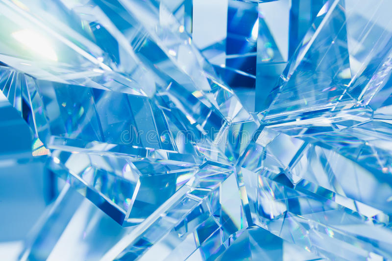 Abstract blue crystal background stock images