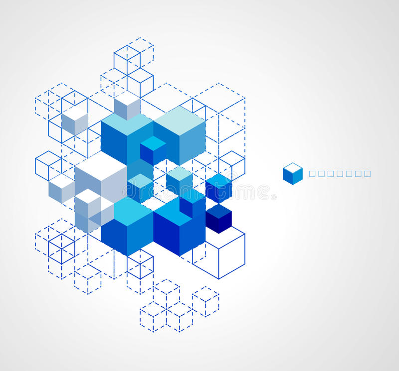 Download Abstract Blue Cubes Background. Stock Vector - Image: 38078870