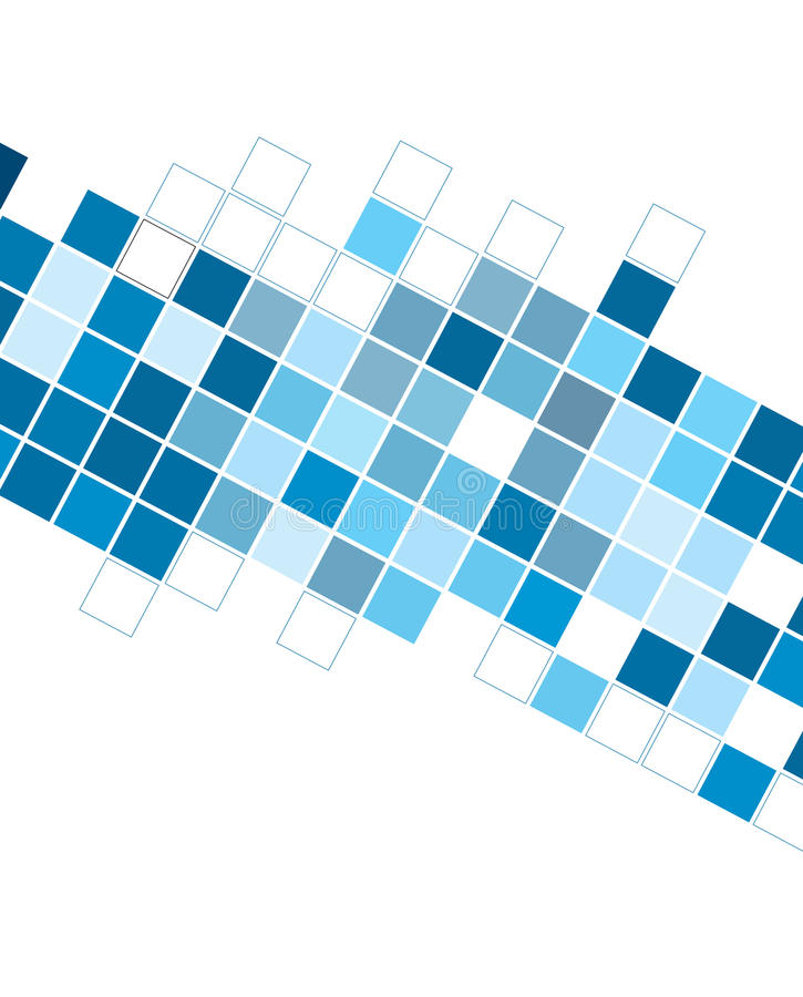Abstract blue cubes background for designs stock illustration