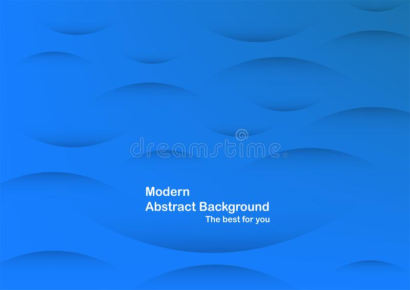 Abstract blue curve background with copy space for white text. M vector illustration