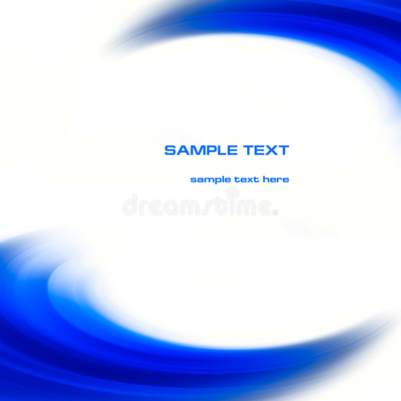 Abstract blue curves background stock illustration