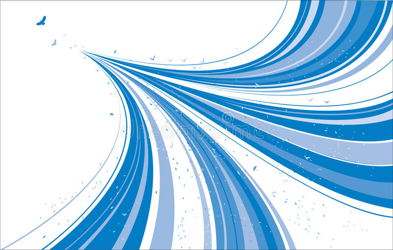 Abstract Blue Design royalty free illustration