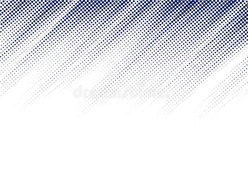 Abstract blue diagonal halftone texture on white background with copy space. Dots pattern. Vector illustration vector illustration