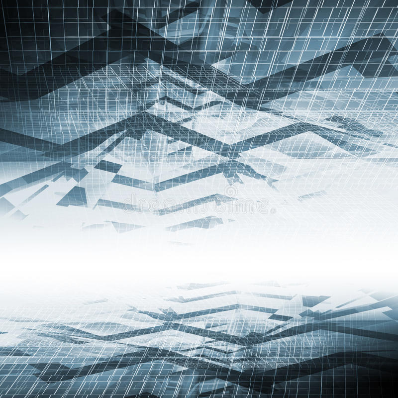 Abstract blue digital background, high-tech royalty free illustration