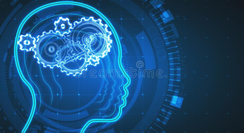 Artificial intelligence background stock photo