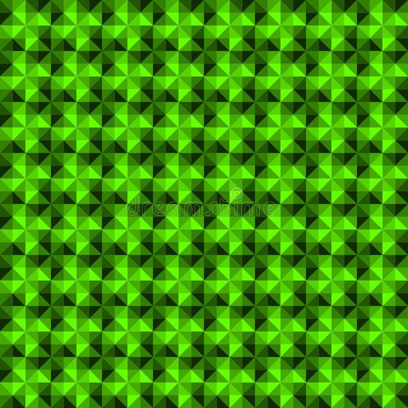 Green gradient abstract geometric shape seamless pattern background. stock illustration