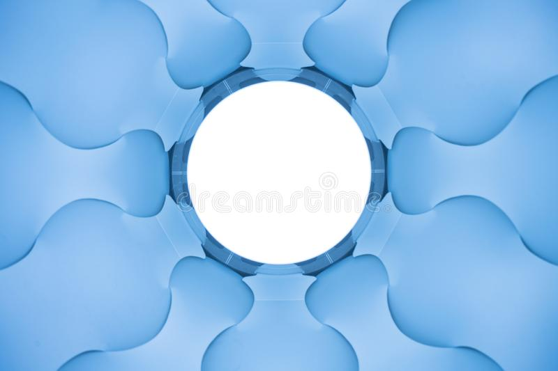 Abstract blue elices stock photo