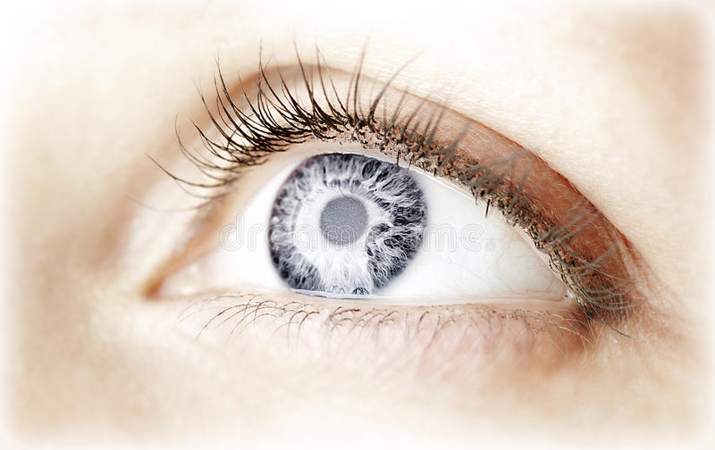 Abstract blue eye stock photography