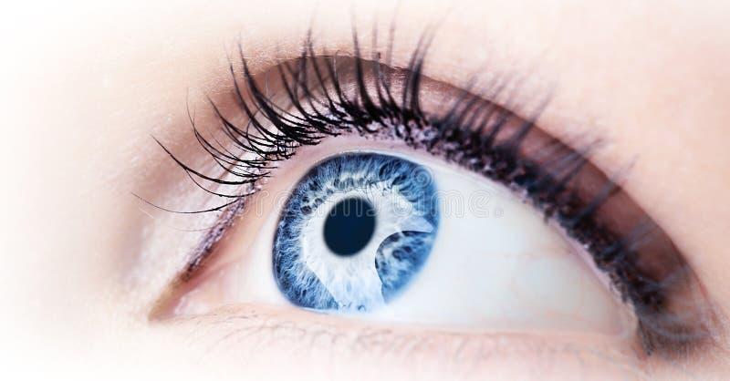 Abstract blue eye royalty free stock photos