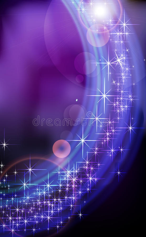 Abstract blue fantasy star background. royalty free illustration