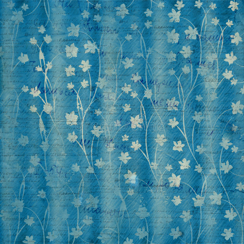 Abstract blue floral background vector illustration