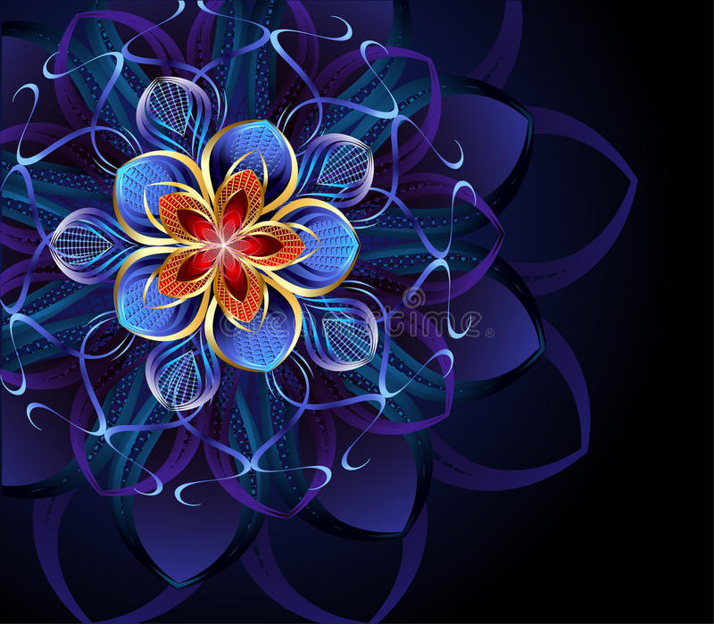 Abstract blue flower royalty free stock photo