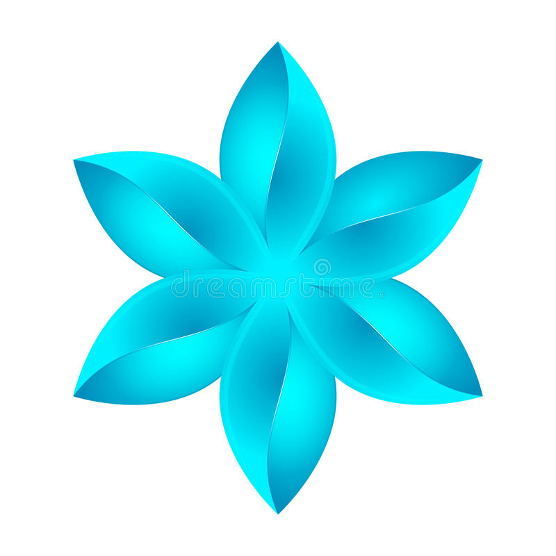 Abstract blue flower design royalty free illustration