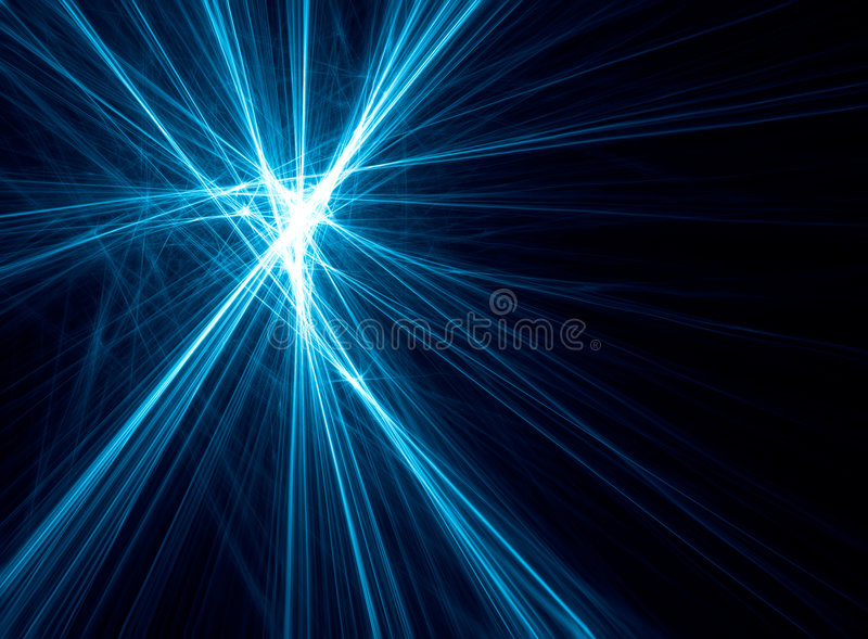 Abstract blue fractal created from lines vector illustration