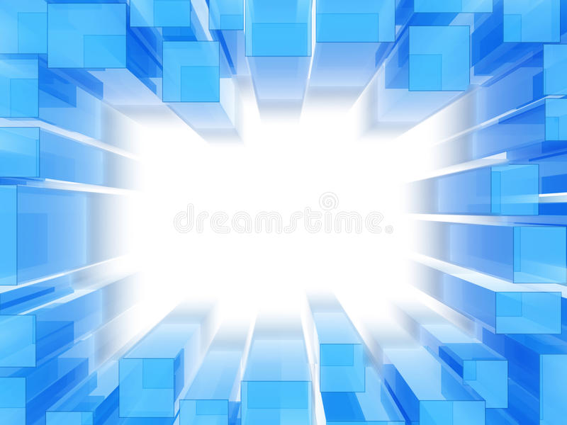 Abstract blue frame royalty free illustration