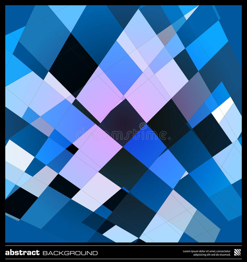 Download Abstract Blue Geometric Background Stock Vector - Image: 30367189