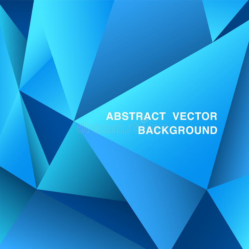 Abstract blue geometric background with space for text, Vector stock illustration