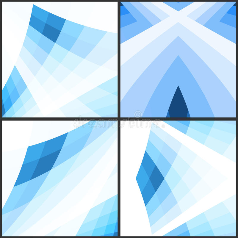 Abstract blue geometric background. Vector illustration. Clip-art stock illustration