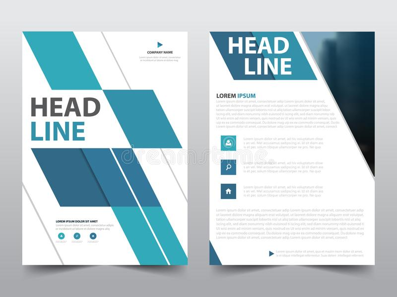 Abstract blue geometric brochure poster,flyer annual report template in a4 size, presentation book cover. Set vector illustration