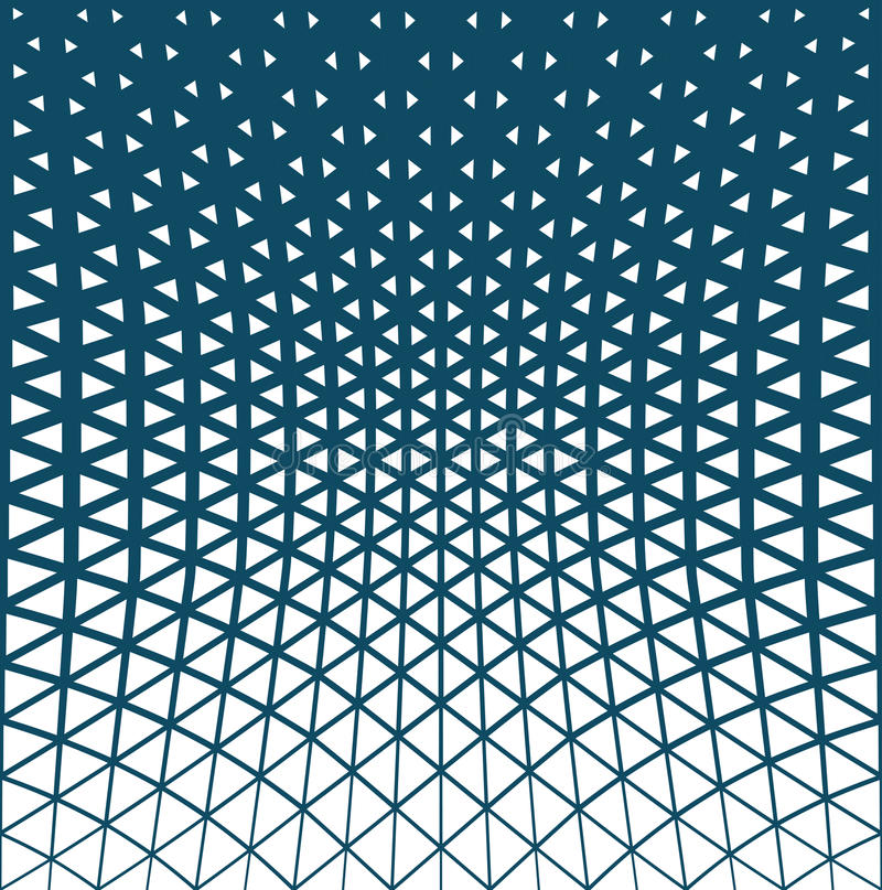 Abstract blue geometric triangle design halftone pattern. Background royalty free illustration
