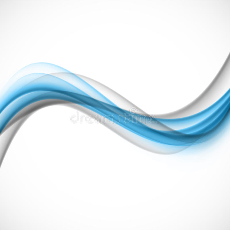 Abstract blue gray wave royalty free illustration