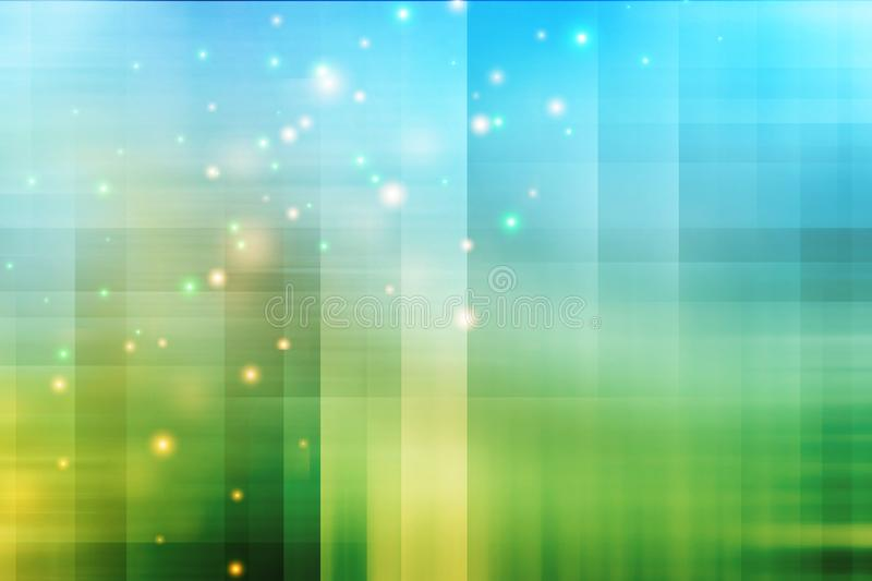 Abstract blue and green background with glitter. Technology back royalty free illustration