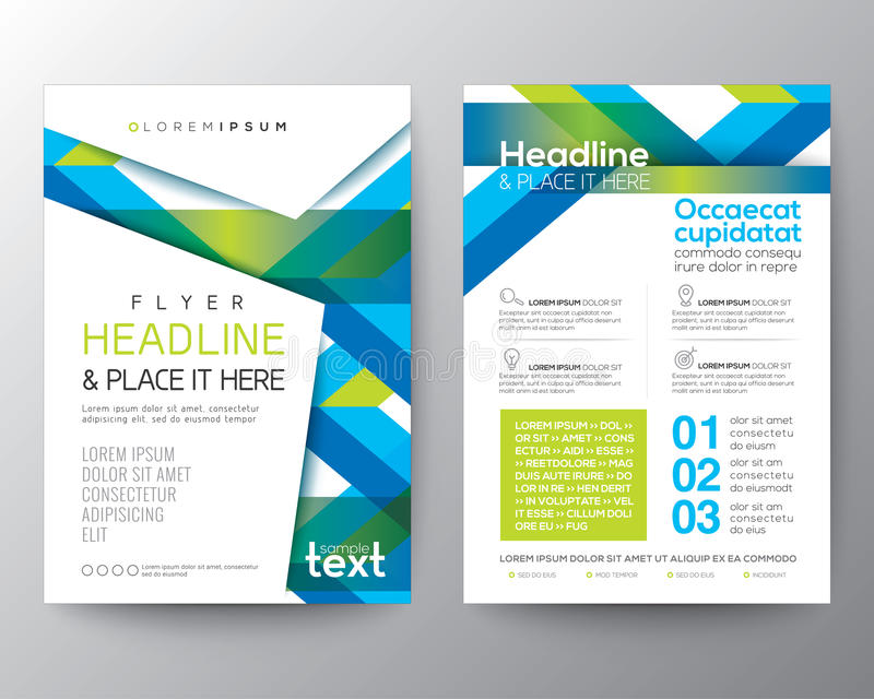 Abstract blue and green background for Poster Brochure Flyer design vector illustration