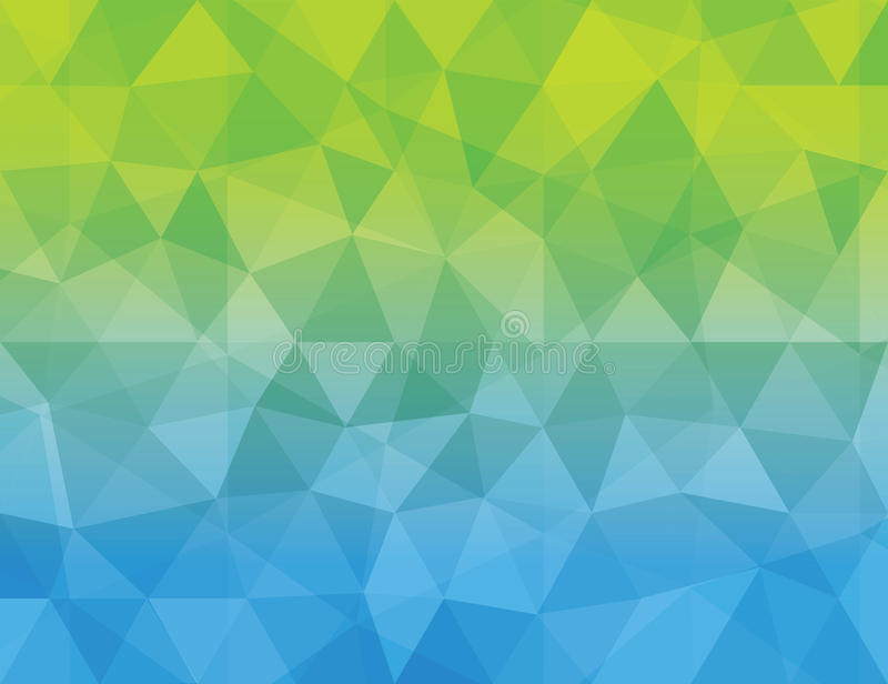 Abstract Blue Green Color Polygonal Geometric Ba Stock