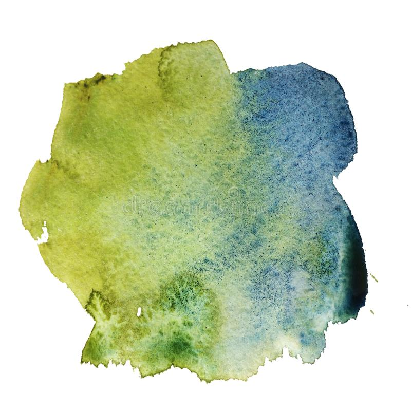 Abstract blue-green watercolor royalty free illustration