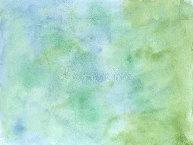 Abstract blue/green watercolor background. vector illustration