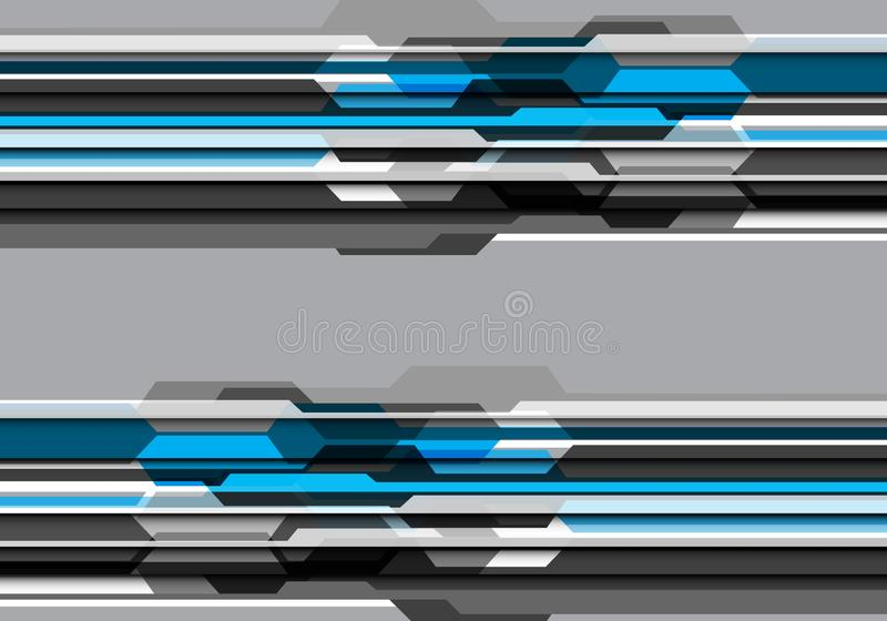 Abstract blue grey tone polygon futuristic design modern technology background vector royalty free illustration