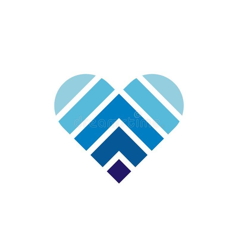 Blue Heart Pendant. Golden Chain. Valentines Gift Stock