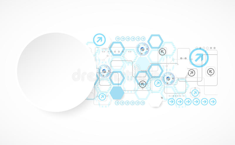 Abstract blue hexagon futuristic background for design works. Vector vector illustration
