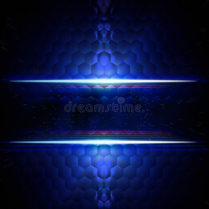 Abstract blue hexagons background with text space royalty free illustration