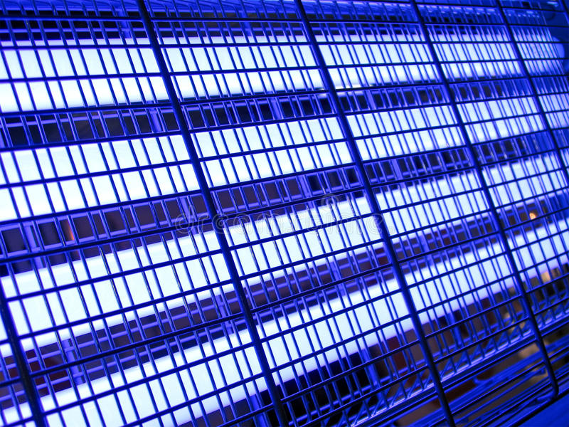 Download Abstract Blue Industrial Grid,industry Lighting, Stock Photo - Image of metallic, many: 18554802