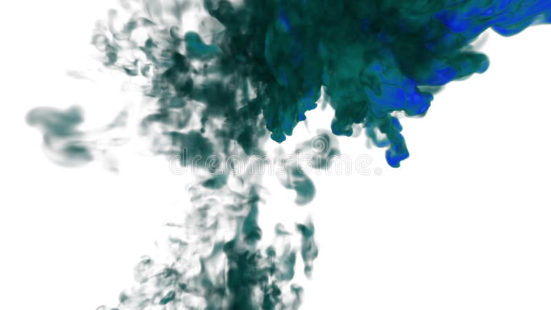 Abstract blue Ink or smoke background with alpha mask  VFX Cloud of Ink for  transitions, background, overlay and effects