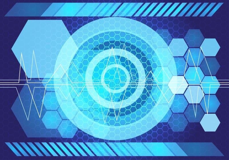 Abstract blue light power technology design background vector. Abstract blue light power technology design background vector illustration vector illustration