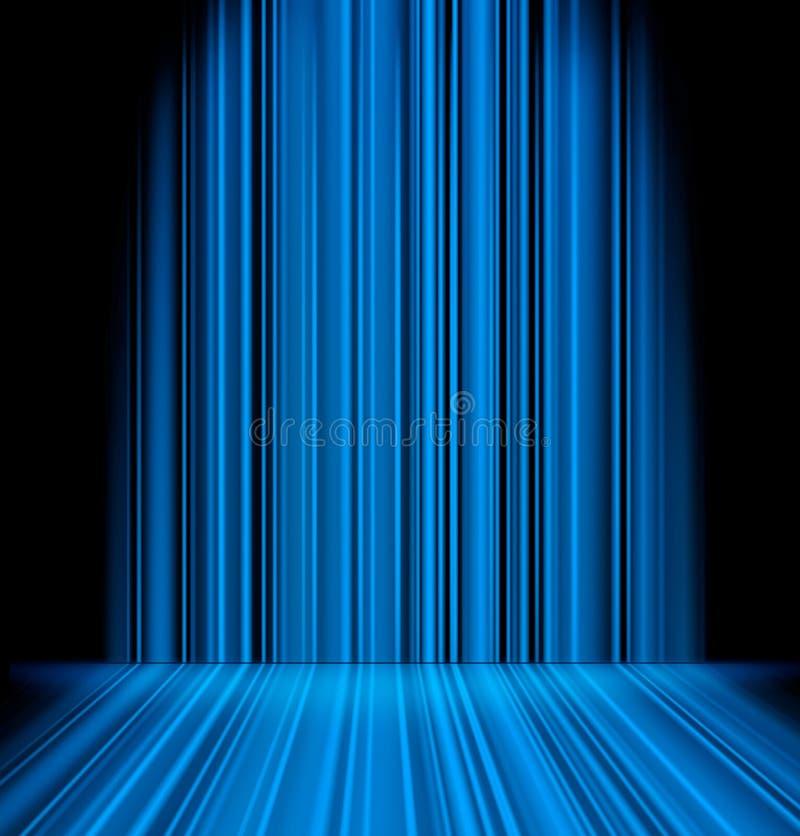 Abstract blue light sabres stock illustration