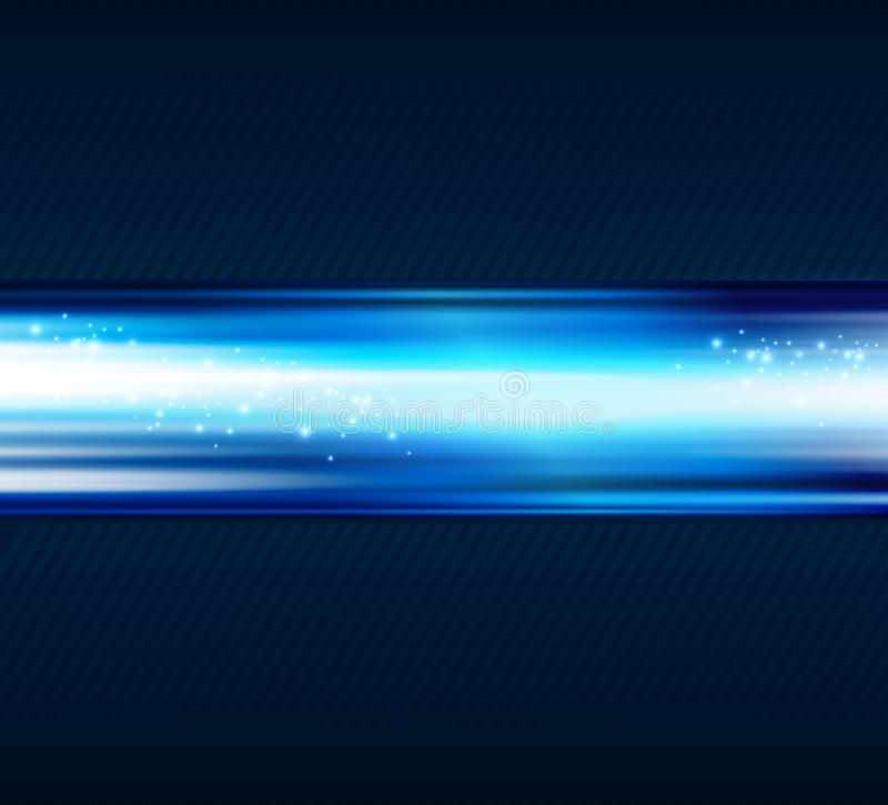 Abstract blue light shiny background stock illustration