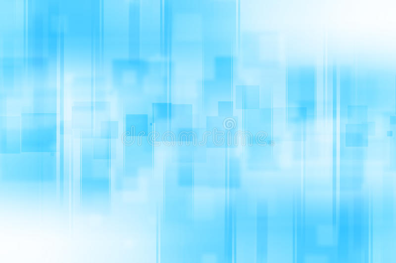 Abstract blue lines square background stock illustration