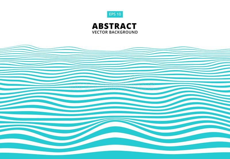 Abstract blue lines wave, Wavy stripes pattern, Rough surface,. Vector Illustration stock illustration