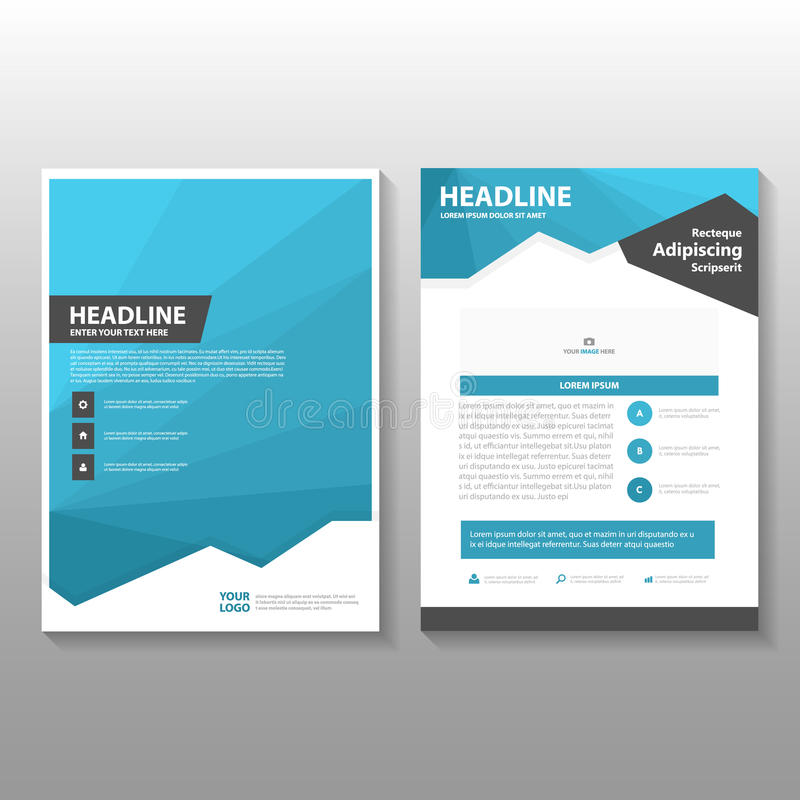 Book Cover Design Template Ks : Abstract blue low polygon leaflet brochure flyer template
