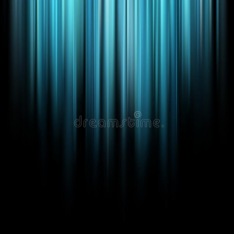 Abstract blue magic light rays over dark background. EPS 10 royalty free illustration